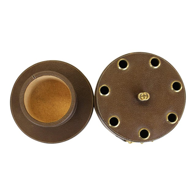 Gucci Leather Pipe Holder With Brass Horsebit - Image 1 of 6