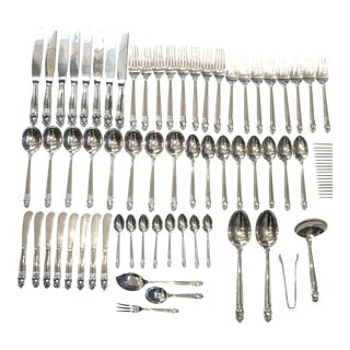 International Silver Co. Sterling Silver Royal Danish Pattern Service for 8 - 64 Piece Set For Sale