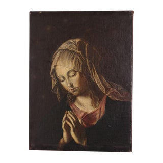 Early 19th Century Renaissance Style Grand Tour Painting of the Madonna For Sale