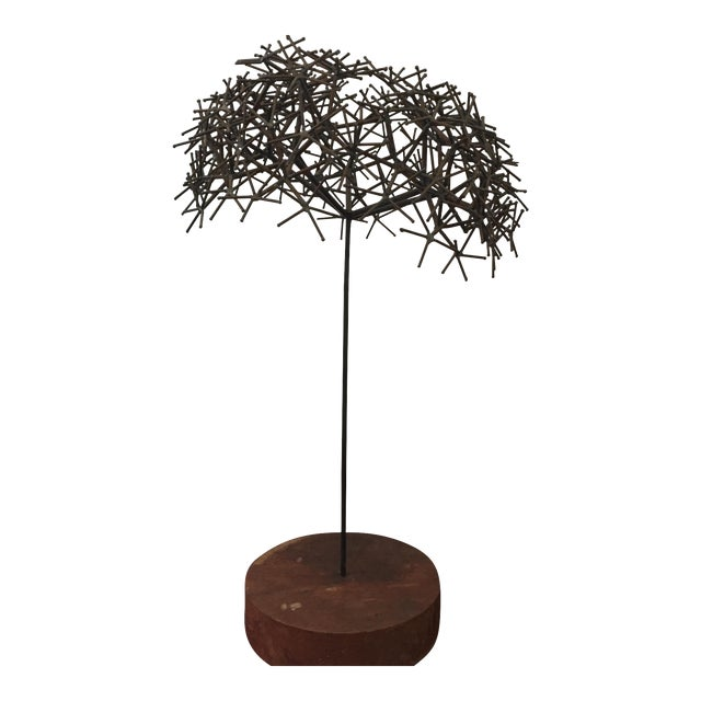 Mid century sculpture tree For Sale