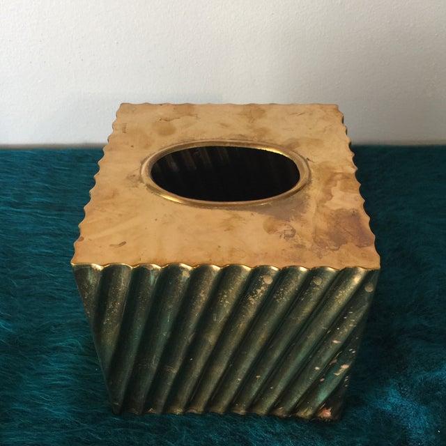 Brass Minimalist Tissue Box Holder - Image 3 of 7