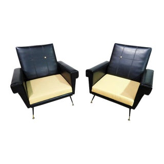 Pair of Vintage Italian Arm Chairs For Sale