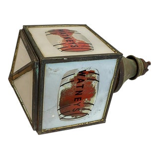 Watney's Red Barrel Pendant Lamp, Circa 1935 For Sale