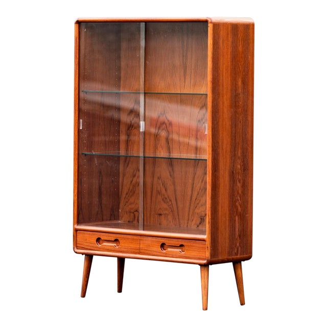 Danish Modern Teak Bookshelf Display Cabinet