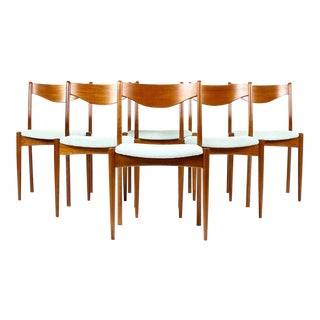 1960s Vintage Soren Ladefoged for SL Mobler Danish Modern Dining Chairs - Set of 6 For Sale