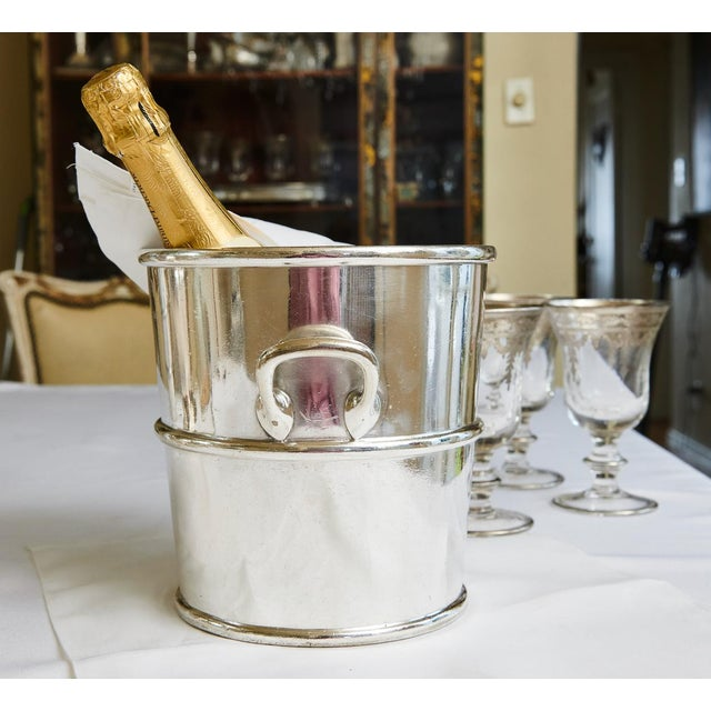 Reed & Barton Silverplate Moana Hotel, Hawaii Champagne Bucket For Sale In San Francisco - Image 6 of 9