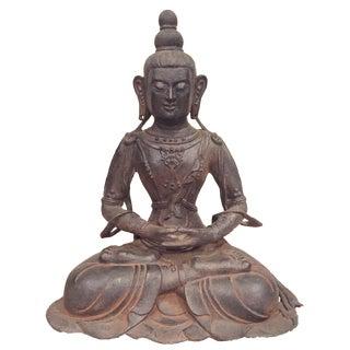 Large Iron Buddha Statue For Sale