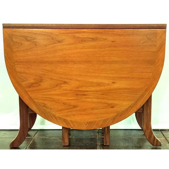 Scandinavian Modern Style Nathan Teak Parker Knoll Drop-Leaf Gate-Leg Occasional Dining Table For Sale - Image 10 of 13