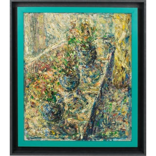 Brutalist Still Life in the Summer Oil on Canvas Painting by e.j.e. Dulfer For Sale