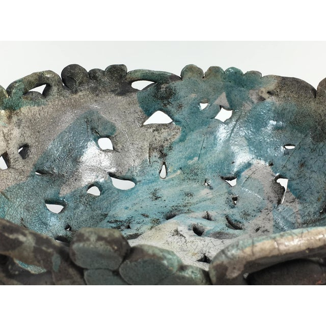 Gray Mid Century Modern Abstract Ceramic Table Centerpiece Bowl For Sale - Image 8 of 10