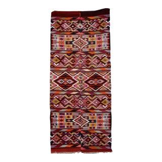Bohemian Handmade Kilim Rug - 4'10'' X 11'6''