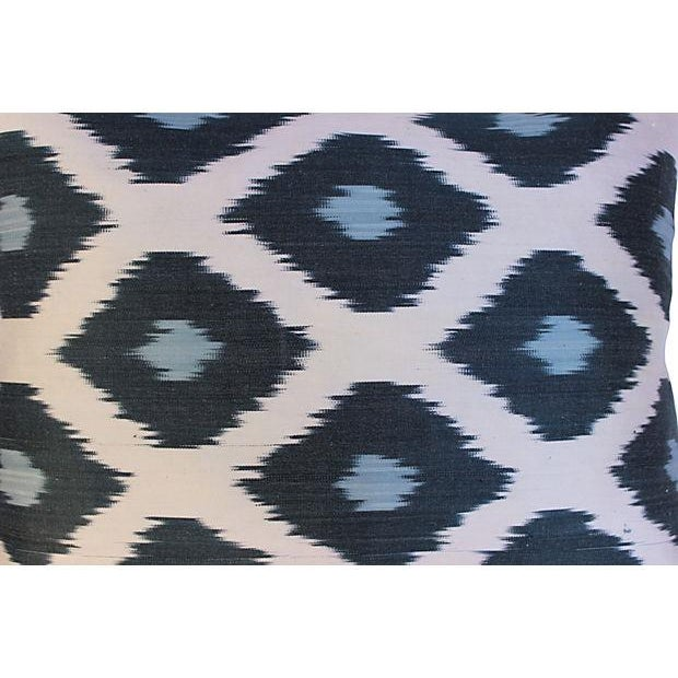 Silk Ikat Mod Pillows - A Pair For Sale - Image 5 of 5