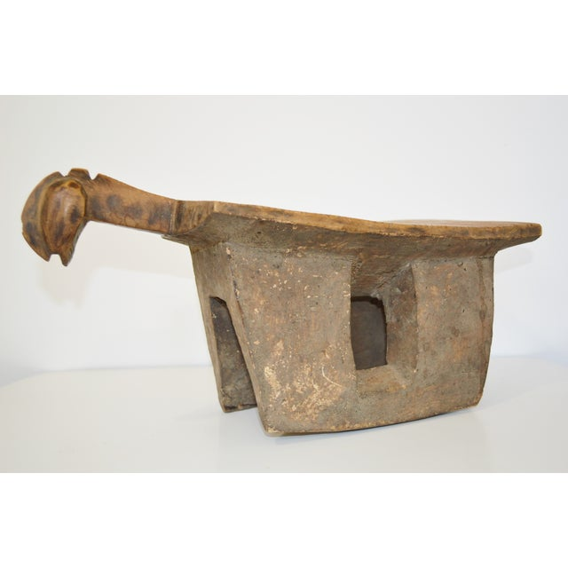 African Lobi Tribe Hand Carved Wooden Stool - Image 4 of 10