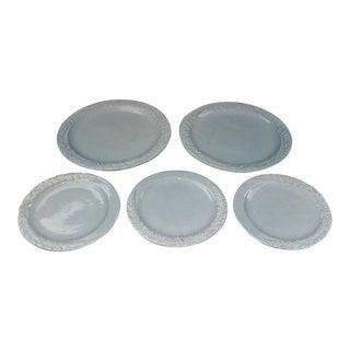 20th Century Tuscan Ceramiche Virginia Ceramic Plates - Set of 5 For Sale