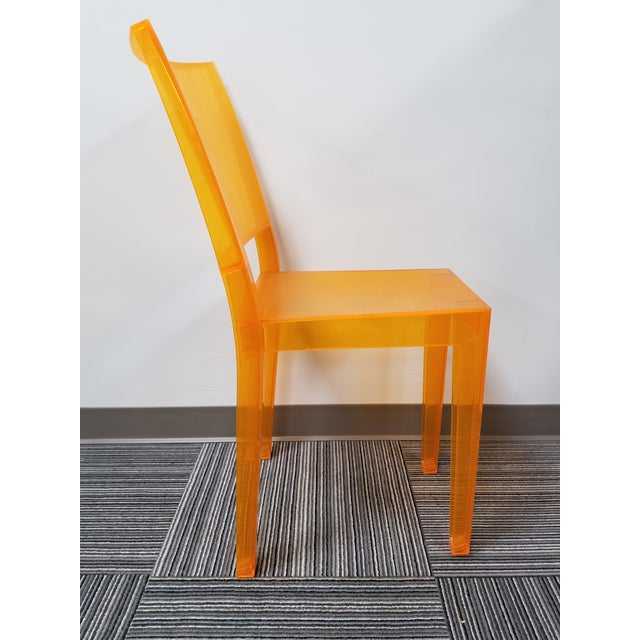 """Contemporary 1990s Kartell """"La Marie"""" Orange Side Chair For Sale - Image 3 of 5"""