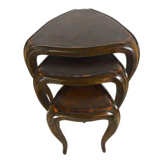 Three Shapley Nesting Tables with Exotic Inlays