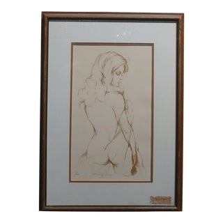 Shari -Standing Nude -hand signed Limited Edition Lithograph