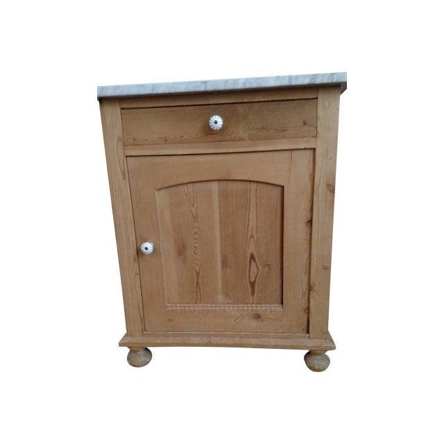 Antique Pine Swedish Nightstand - Image 1 of 9