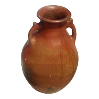 1950s Italian Terra-Cotta Olive / Wine Jar For Sale