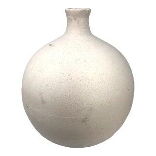 Organic Stoneware Studio Pottery Bottle Vessel For Sale