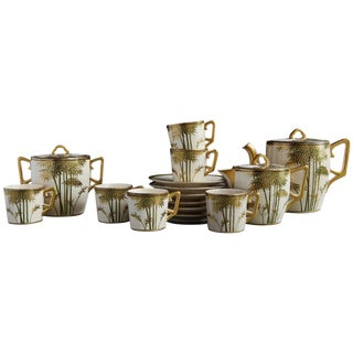 Japanese Hand Painted and Gilded Demitasse Coffee Service, New in Box, 1930s For Sale