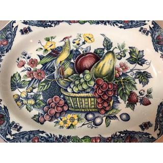 Fruits & Birds Transfer-Ware Porcelain Platter Preview