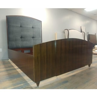 Art Deco Henredon Furniture Reference by Patrick Aubriot Mahogany Queen Upholstered Panel Bed Preview