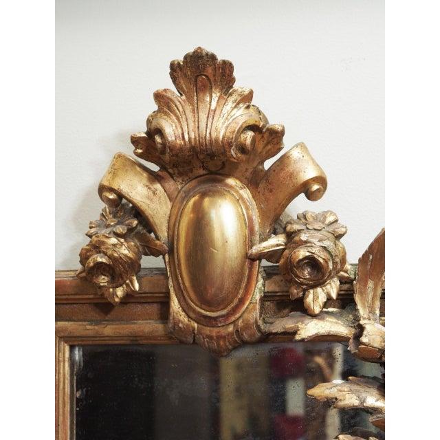 Rococo Petite Parcel Gilt Mirror For Sale - Image 3 of 9