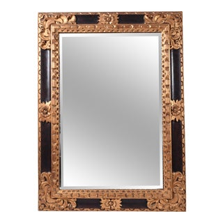 Mid-20th Century Giltwood Framed Hanging Wall Mirror For Sale