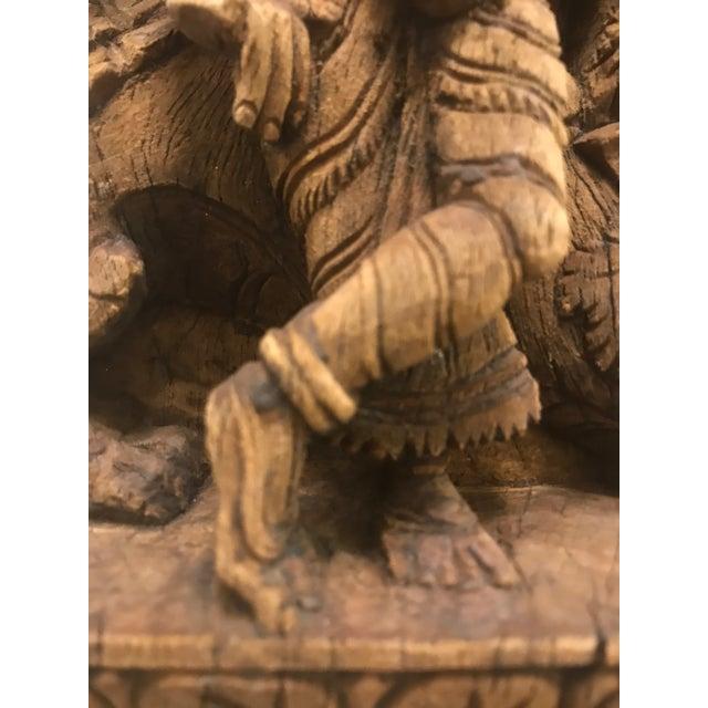 Carved Wooden Icon of Vishnu Goddess For Sale - Image 10 of 12