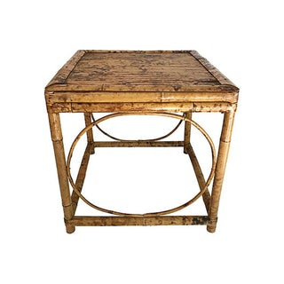 English Burnt Bamboo Side Table Preview
