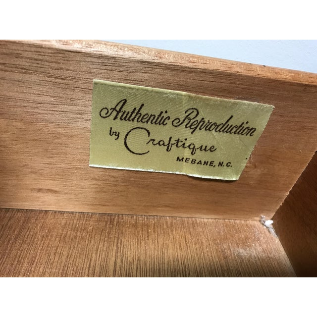 Craftique Solid Mahogany 2 Over 4 Drawer Chest - Image 7 of 11