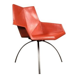 1960s Mid-Century Modern Paul McCobb Origami Chair on a Spider Base For Sale