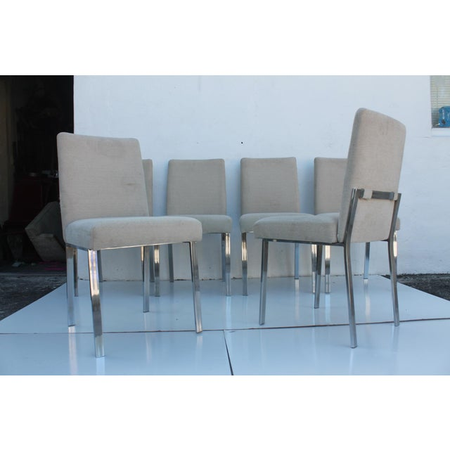 Milo Baughman Chrome Dining Chairs - Set of 6 - Image 2 of 11