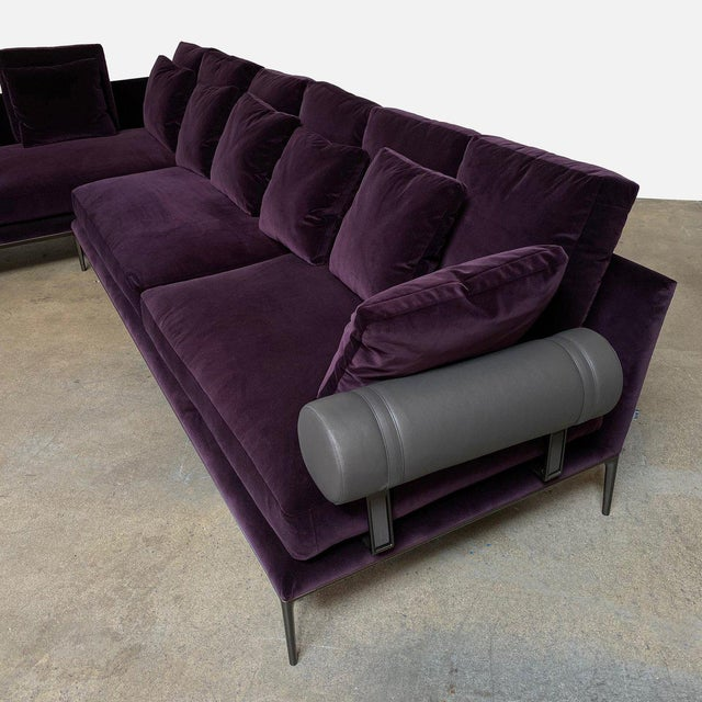Purple B&b Italia 'Atoll' Sectional For Sale - Image 8 of 12