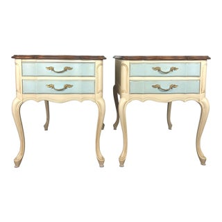 Solid Wood Hechman French Provincial Nightstands - A Pair