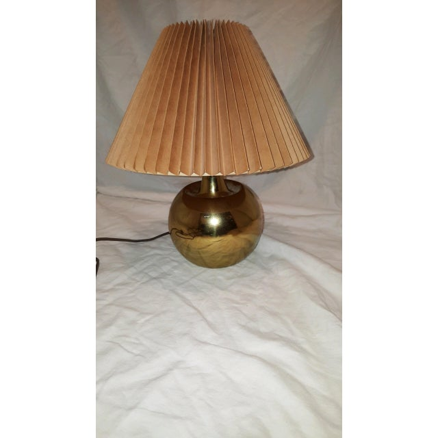 Laurel Lamp Co. Brass Lamp For Sale - Image 5 of 8