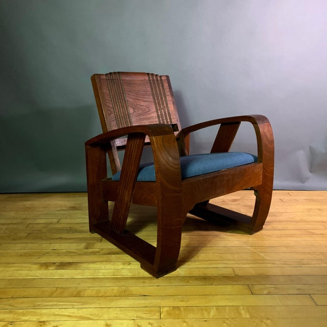 1930s Solid Teak Veranda Chair, Danish Colonial Indonesia For Sale - Image 11 of 11