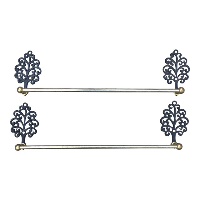 Antique Tree Towel Bars - A Pair For Sale