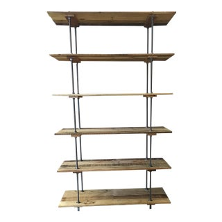 Vintage Reclaimed Wood Bookshelf For Sale