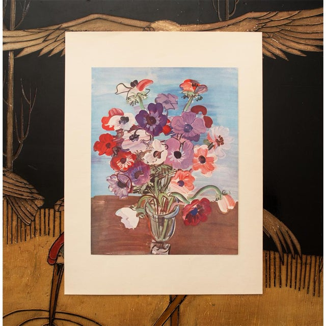 "Modern 1940s Vintage Original Swiss Period ""Bouquet"" Lithograph by Raoul Dufy For Sale - Image 3 of 8"