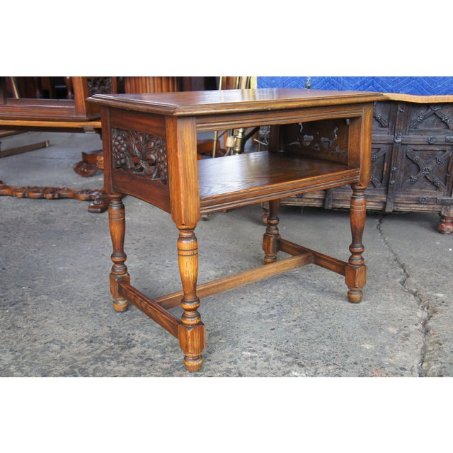 Mid 20th Century Feudal Oak Jamestown Lounge Co Spanish Revival Nightstand For Sale - Image 5 of 10