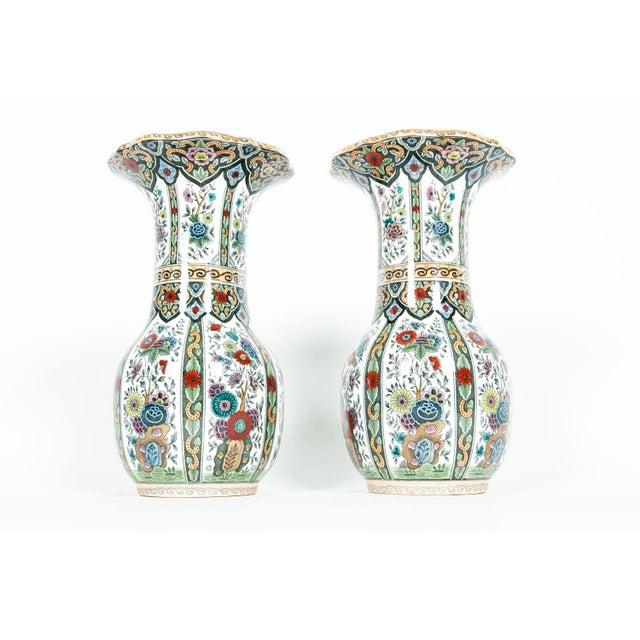 Vintage Porcelain Dutch Vases - a Pair For Sale - Image 13 of 13