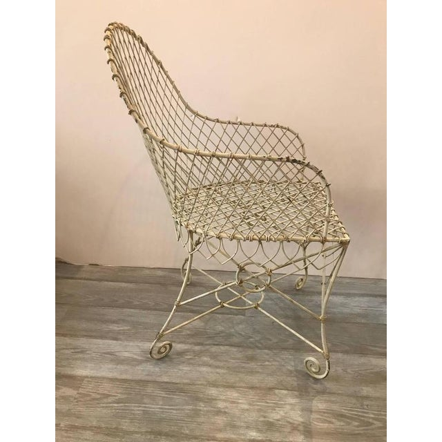French Painted Wire Tub Back Chairs - a Pair - Image 4 of 10