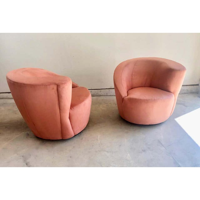 """Vladimir Kagan for Directional """"Nautilus"""" Swivel Chairs - A Pair For Sale In Los Angeles - Image 6 of 13"""
