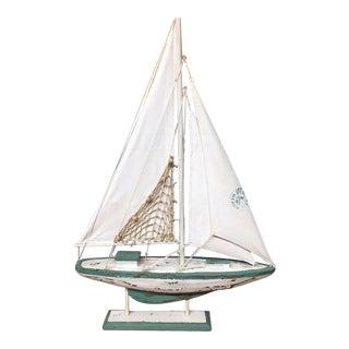 Vintage Model Cutter Rig Sailboat Model For Sale