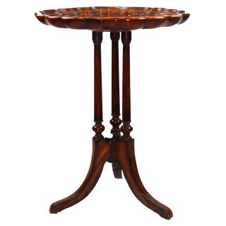 Pasargad NY Georgian Mahogany Tripod Occasional Table For Sale