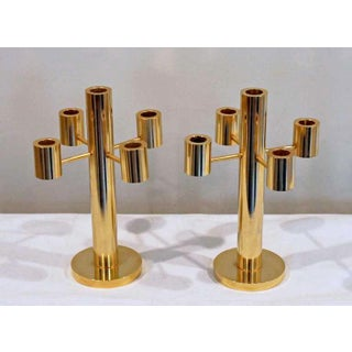 1970's Vintage Gilt Brass Candelabras- A Pair Preview