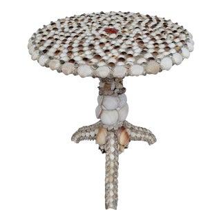 Sea Shell Encrusted Arts & Craft Table