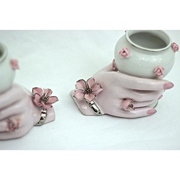 Holding Hands Vases - A Pair - Image 6 of 7